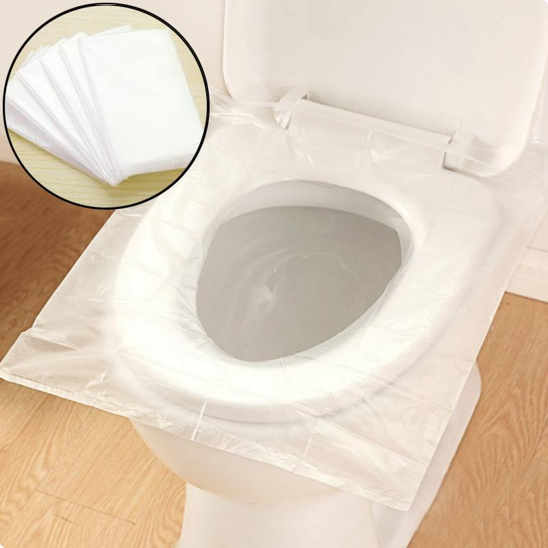 Newly Disposable Toilet Seat Cover Waterproof Closestool Seat Cover Sanitary Hotel Travel Supplies Pack 6pcs