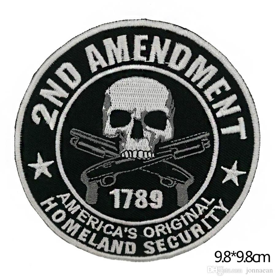 Cheap Skeleton Iron On Patch Motorcycle Biker Club MC Front Jacket Vest Patch Detailed Embroidery