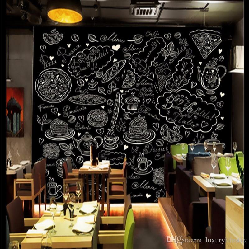 3d stereo custom western cafe wallpaper bread dining room for Cafe mural wallpaper