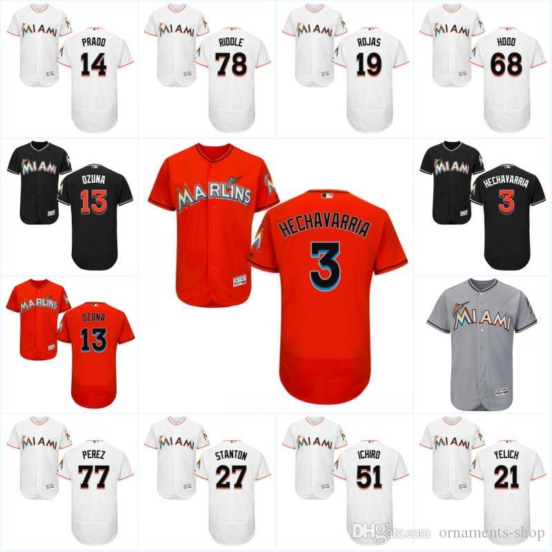 6e04bf362c9 ... Christian Yelich 21 after hitting ... prado martin 14 jersey ornament Miami  Marlins 2017 ...