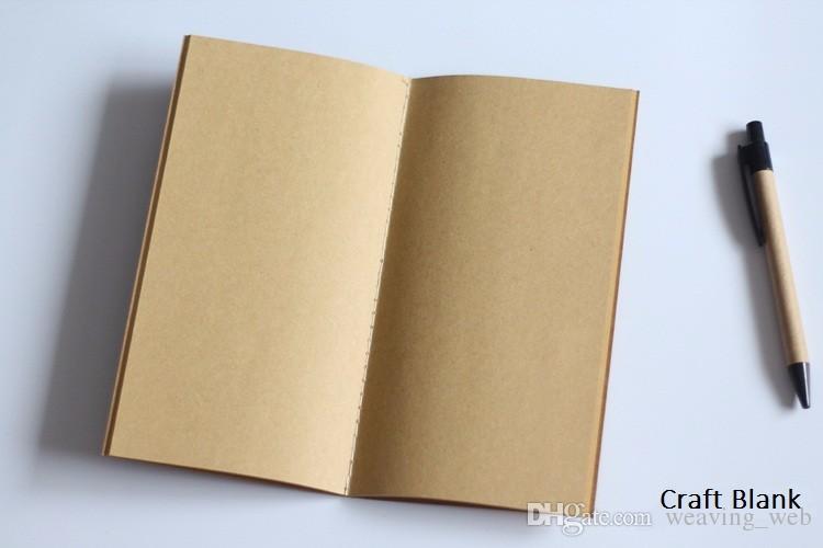 표준 / 포켓 용지 빈티지 공예 메모장 일기 일기 여행자 메모장 리필 기획자 주최자 필러 종이 학생 선물