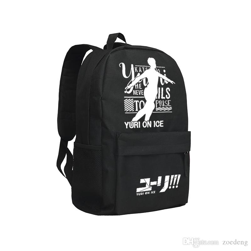 0221e90a2863 YURI on Ice Backpack For Boys And Girls Oxford Mochila Children ...