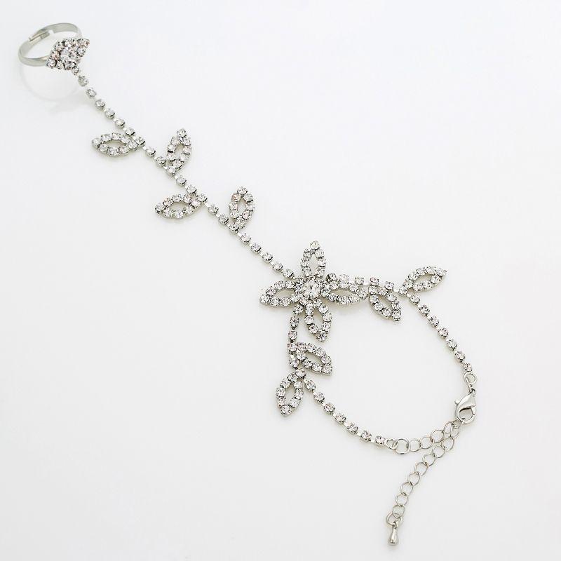 New 2017 Brand New Multi-Layer Tassel Alloy Rhinestone Bracelet Cuff Hand Harness Chain Wedding Xmas The bride jewelry