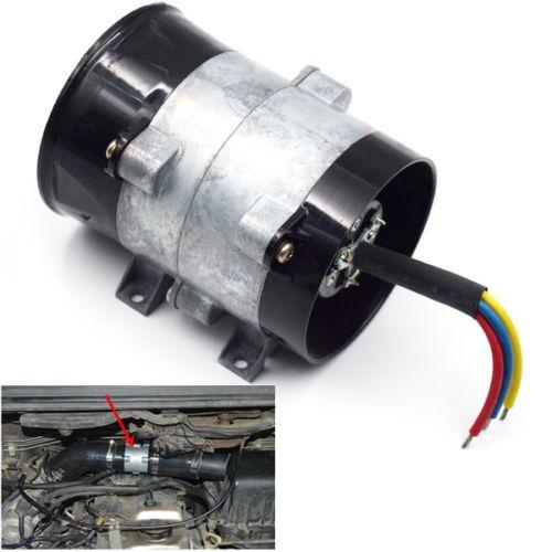 12 V 16.5A Elektrik Türbini Turbo Şarj Hava Emme Turbo Fan Araba Için Kalın Hat