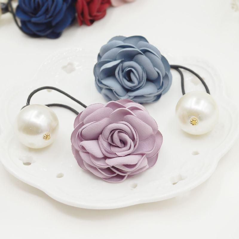 Woman headdress hair Colorful hair Scrunchies Korean bow section ring hair rope decorated Korean jewelry F0091 pan head