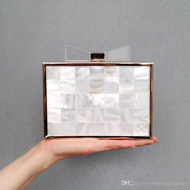 Großhandel Wholesale Luxury Natural Shell Rahmen Handtaschen Tag ...
