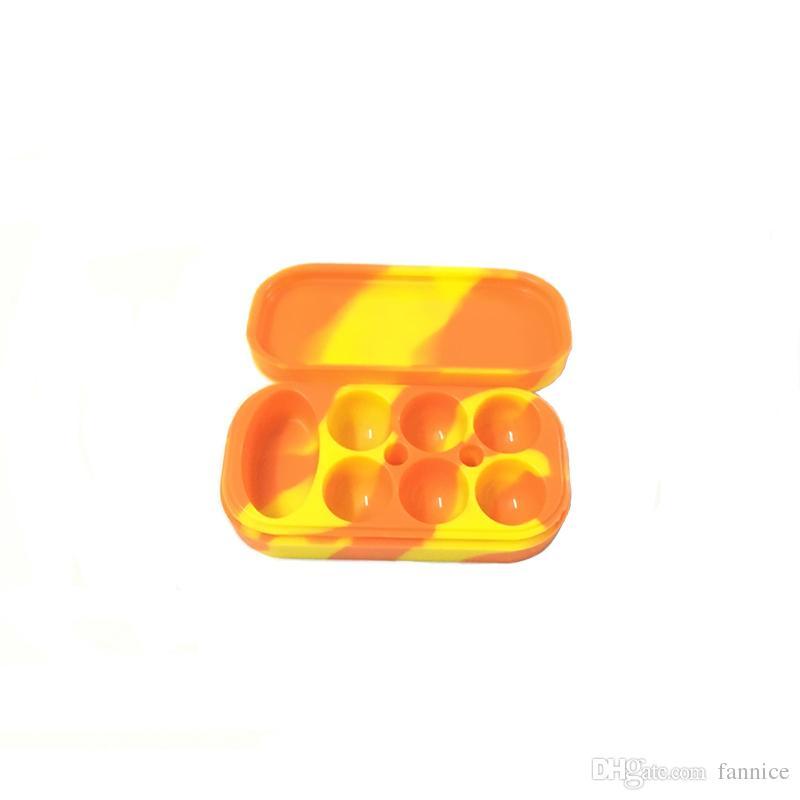 4 мл *6 +10 мл *1 прямоугольник антипригарной силиконовые банки мазок воск испаритель масло контейнер Силиконовый контейнер для хранения 500 шт. / лот