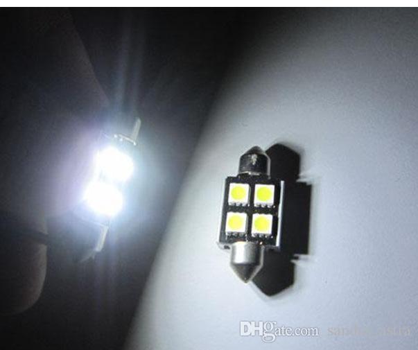 plus récent 31mm39mm 41mm C5W 4SMD 5050 LED 4SMD Blanc / Bleu / Rouge CANBUS erreur sans voiture plaque d'immatriculation lumières Ampoule Dôme Festoon Lampes 12V