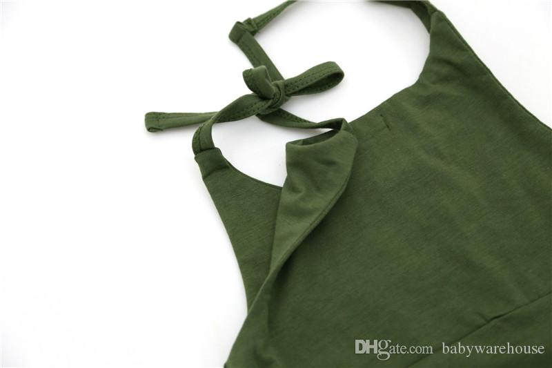Baby-Spielanzug-Sommer-Sleeveless Baumwollnettes einteiliges Ausstattungs-Sunsuit-Spielanzug-Overall-Kinderkleidung 0-24M Neugeborenes Baby-Kleidung
