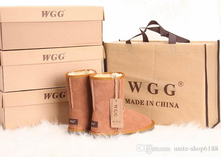 WGG boot Hiver imperméable enfants neige bottes chaudes hiver hiver filles garçons enfants bottes australiennes bottes de neige bébé Chaussures 5281 Chaussures