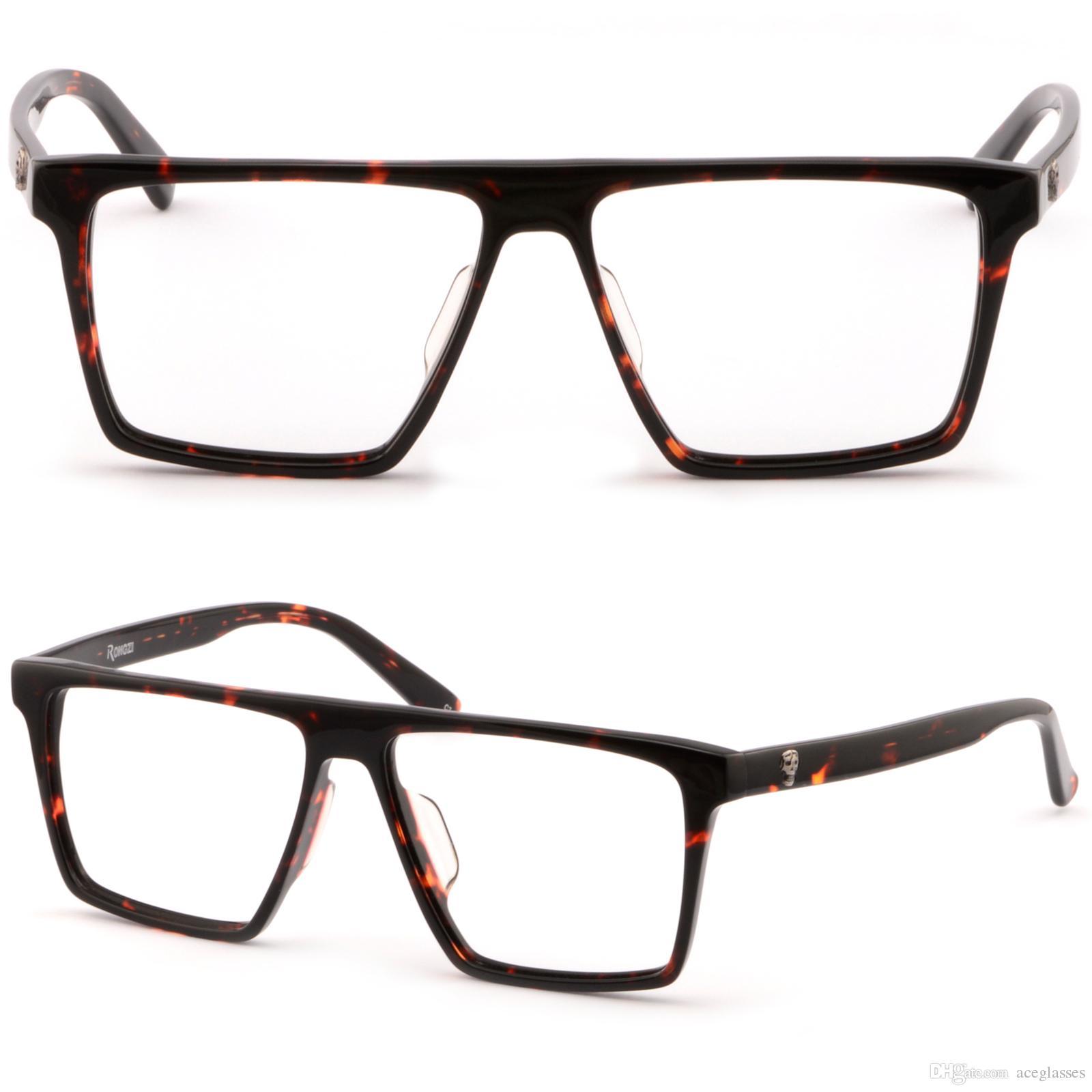 Large Square Plastic Frame Big Men Prescription Glasses Sunglasses ...