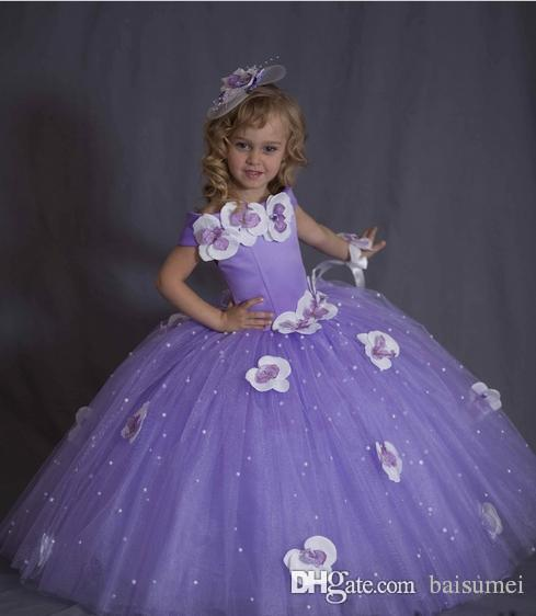 Hot Sale Fashion Gorgeous Princess Ball Gown Beads Girls Pageant ...