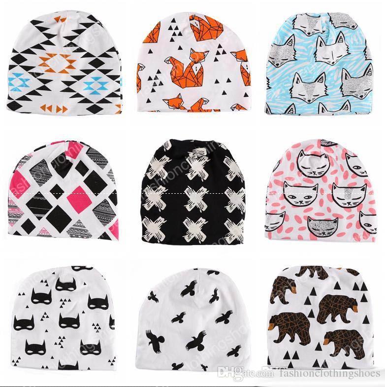 9a2deb2d06b 2017 Brand New Animal Cartoon Bear Cotton Baby Hat Kids Girls Boys ...