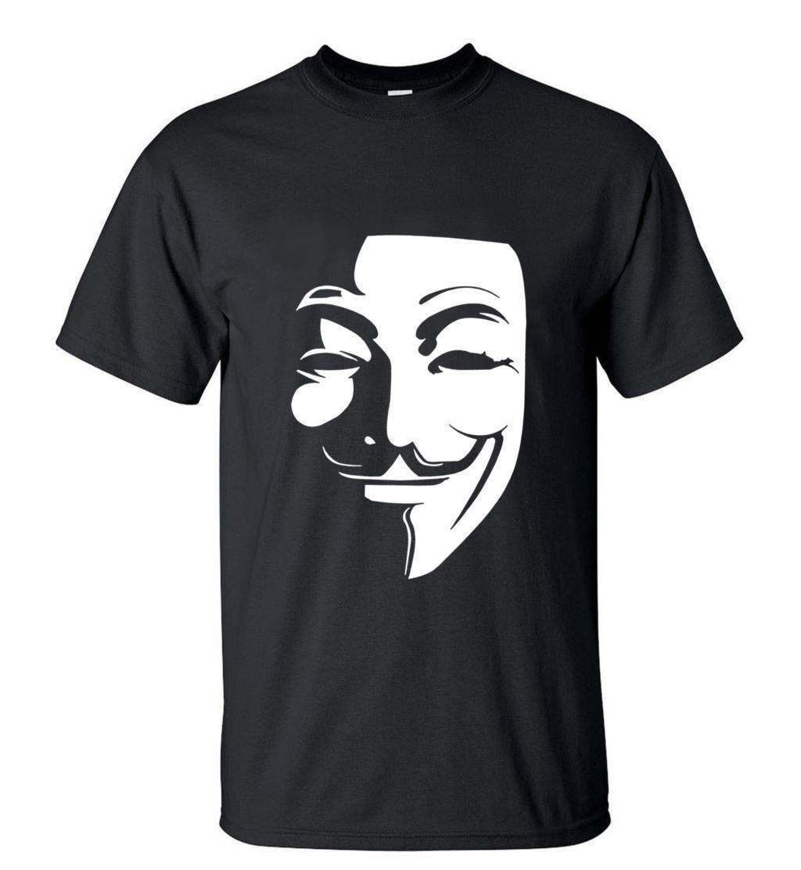 2017 Camping T Shirts Men'S Summer V For Vendetta T Shirts Mens O ...