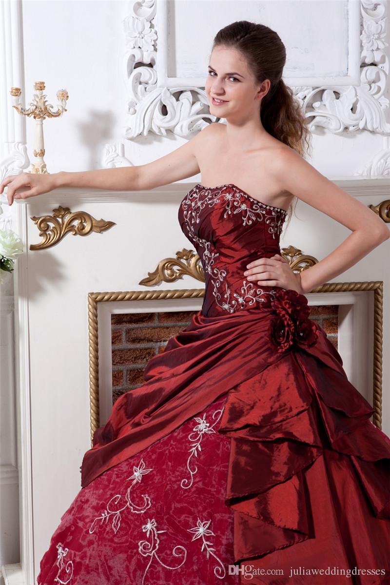 2017 Сексуальная Элегантная Вышивка Цветочное Бальное платье Цюрьковина Платья с Taffeta Ogranza Plus Размер Сладкий 16 Платье Vestido Dubutante Plans BQ67
