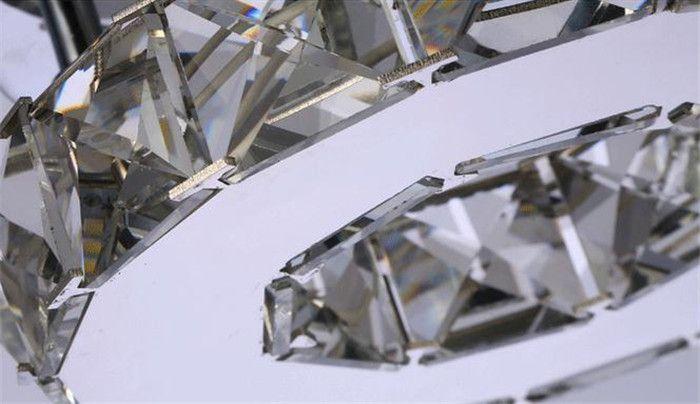 Minimalist Tek halka D17cm kristal tavan lambası led koridor ışıkları Paslanmaz çelik koridor ev balkon yemek odası aydınlatma
