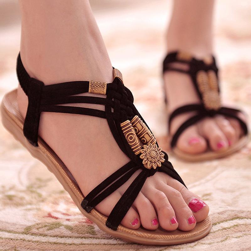 564b705c8 Compre Zapatos De Mujer Sandalias Confort Sandalias Chanclas De Verano 2017 Sandalias  Planas De Alta Calidad De La Manera Gladiador Sandalias Mujer A  5.69 ...