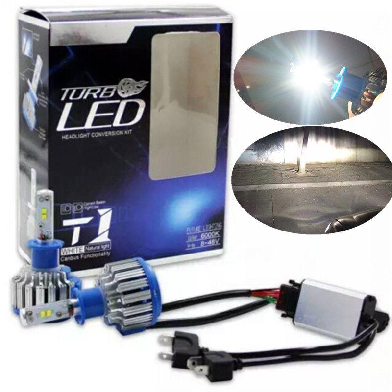 Turbo Universal Headlight Led String: 2019 80W 7200LM CREE Chip TURBO H4 LED HEADLIGHT Low/Hi