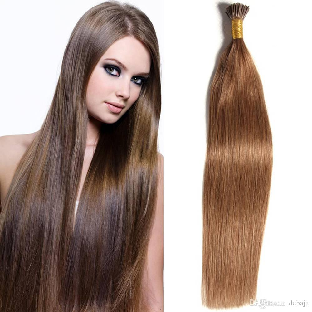 Hot Selling I Tip Stick Hair Extension Straight Brazilian Pre Bonded