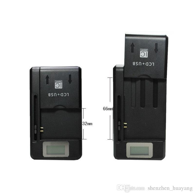 a784b688f33 Cargador De Portatil Universal Inteligente Indicador LCD Cargador De Batería  Para Samsung GALAXY S4 I9500 S3 I9300 NOTA 3 S5 Con Carga De Salida Usb EE.  UU.