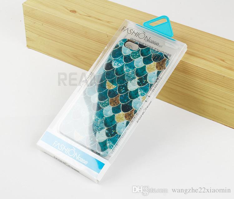 Mode-Stil transparente PVC-Verpackung Box für Telefon Schutzhülle für iPhone 7 4,7-Zoll-Fall für iPhone 7 plus 5,5 Zoll Fall
