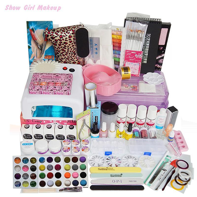Nails Art Tools Professional Salon Full Nail Manicure Uv Lamp ...