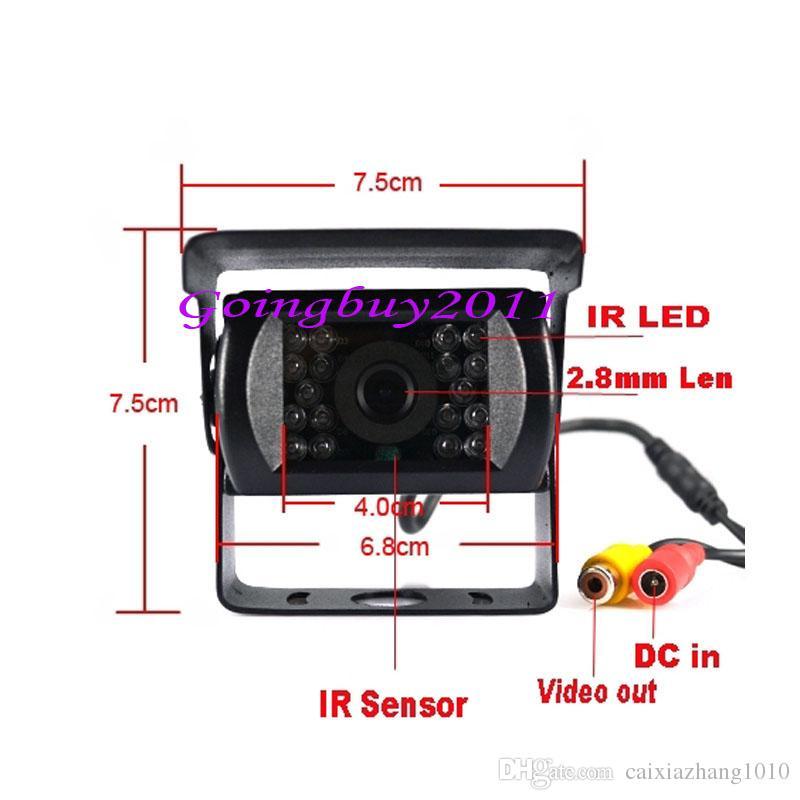 12V-24V 18 LED IR Night Vision Car Rear View Reversing Backup Parking Camera For Bus Truck Motorhom Vehicle
