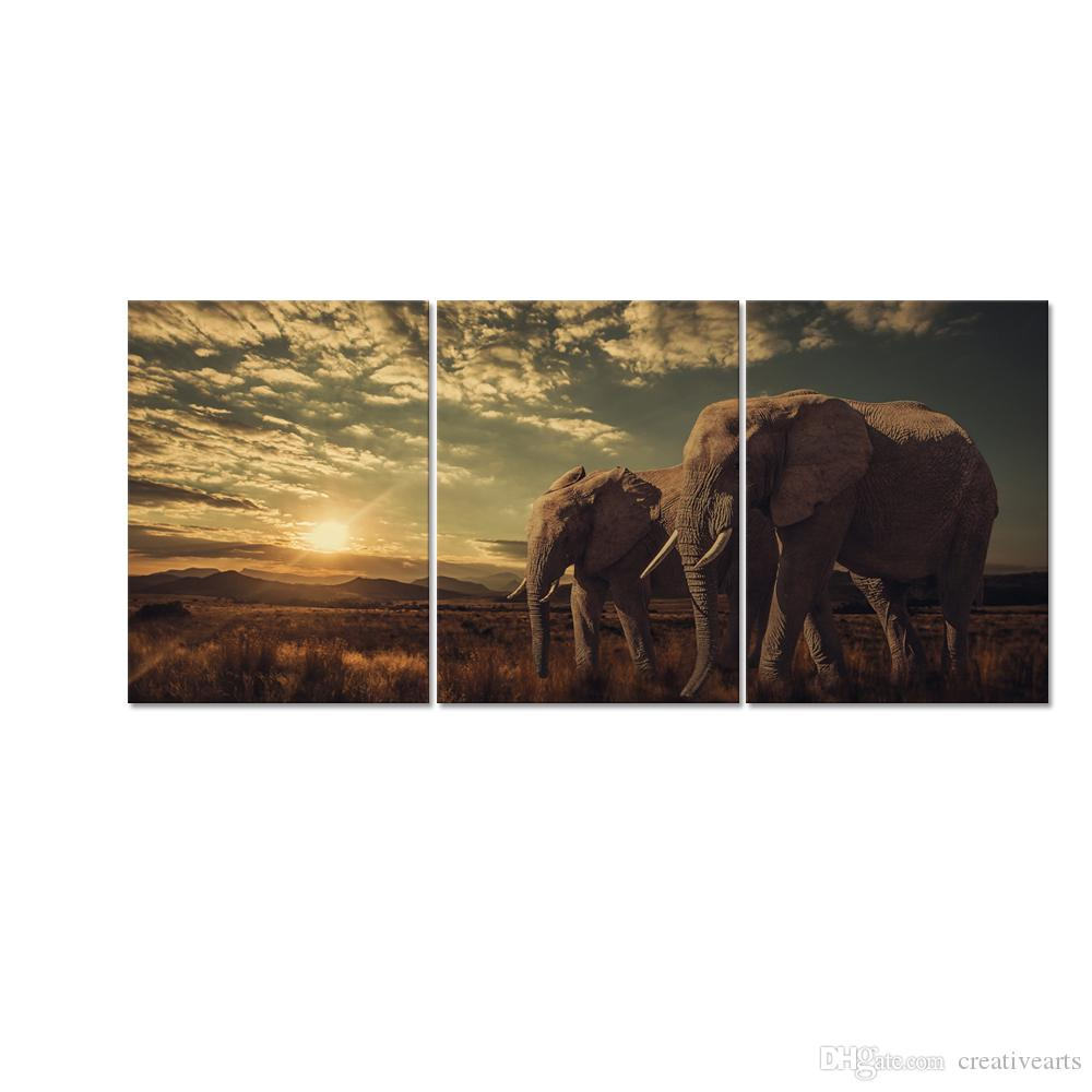 animal canvas printing big elephant hd canvas prints canvas art for