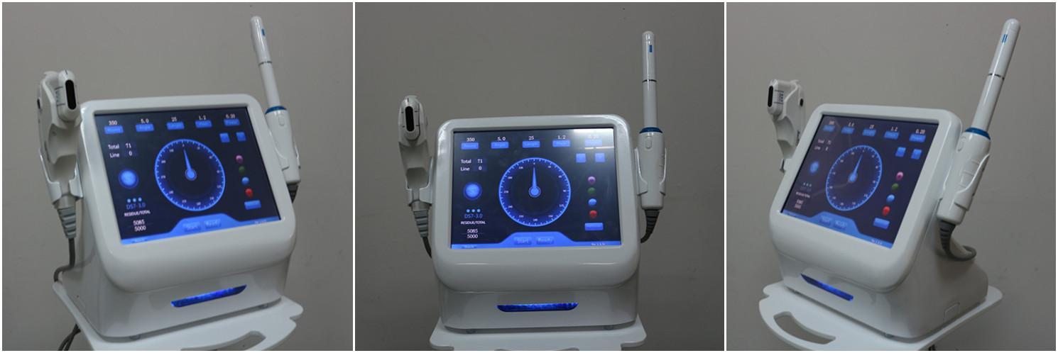 Profesyonel HIFU Güzellik Makinesi Yüksek Yoğunluklu Yüz ve Vajinal için 5 Kartuşlu Ultrasoud Odaklı