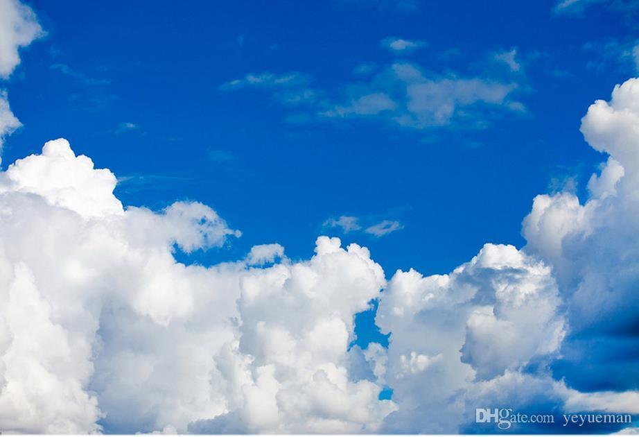 Европейский стиль 3D изоляция для потолка голубое небо и белые облака стереоскопические обои для стен спальни Обои для потолков