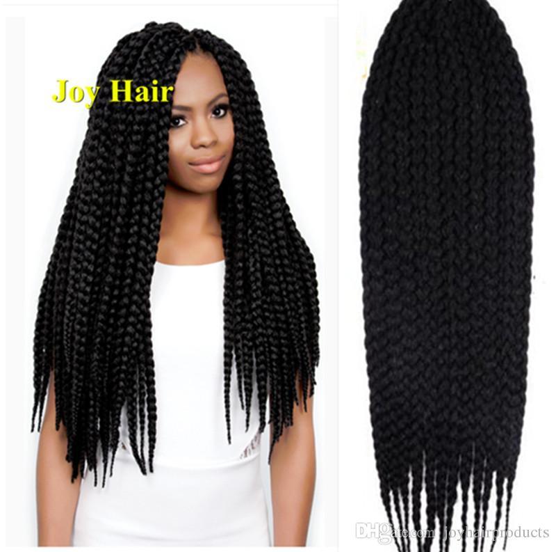 2019 Pretwist 3s Crochet Box Braids Hair Extensions 22 Crochet