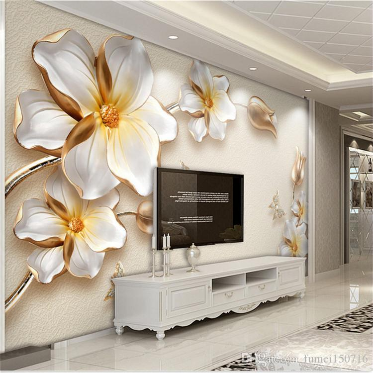 3d Stereo Relief Flower Modern Simple Tv Background Wallpaper Living Room  Seamless Wall Cloth Large Mural Beautiful Wallpapers Bedroom Wallpaper From  ... Part 76