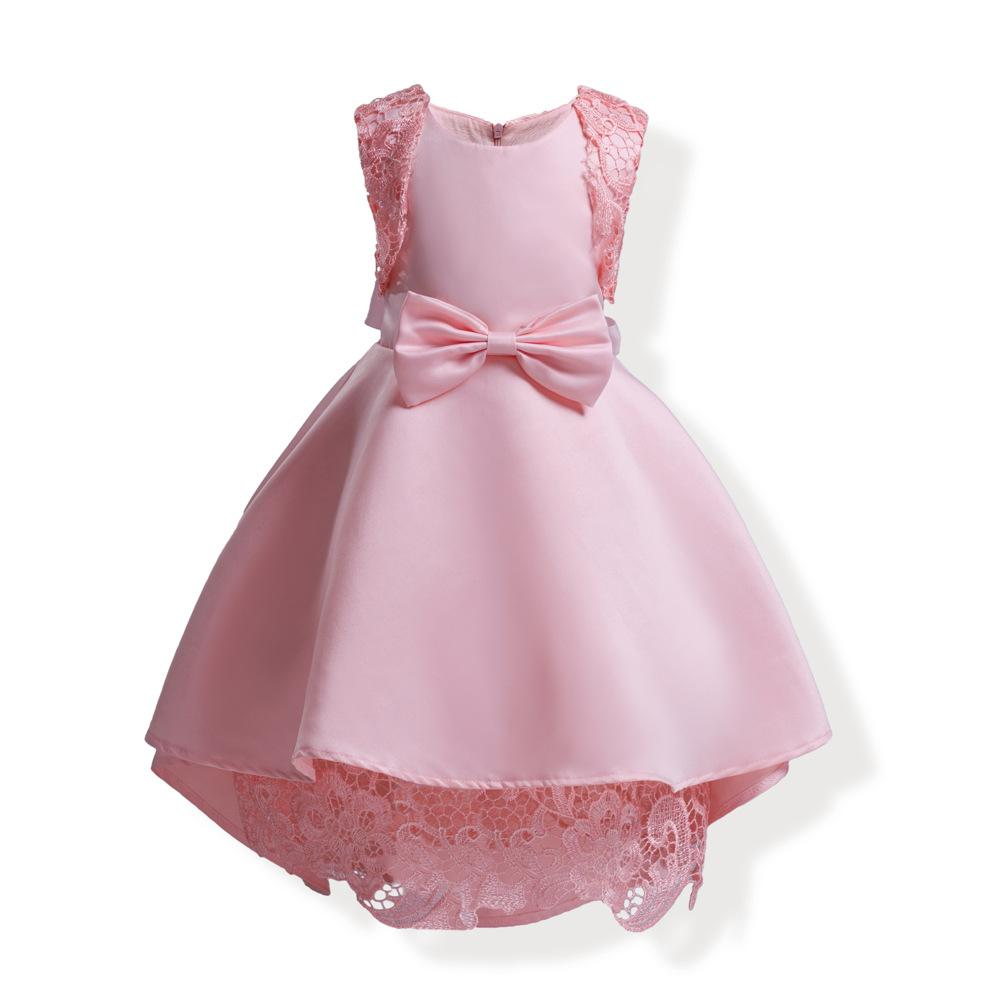 7f89dd9a Girls Party Dresses Princess Dress 3-10 Years Kids Lace summer long tailing  Dresses for Toddler Girl Children Clothing