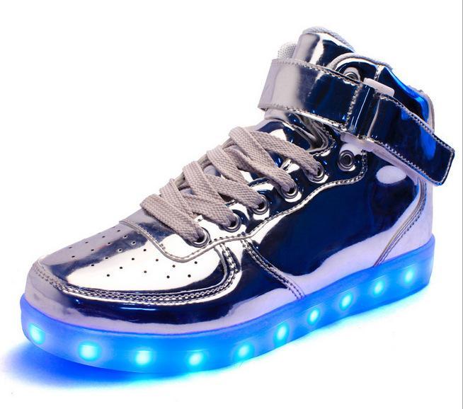 8 Colours USB charging led luminous shoes men women Leather Waterproof shoes luminous glowing sneakers light up sneakers Men shoes