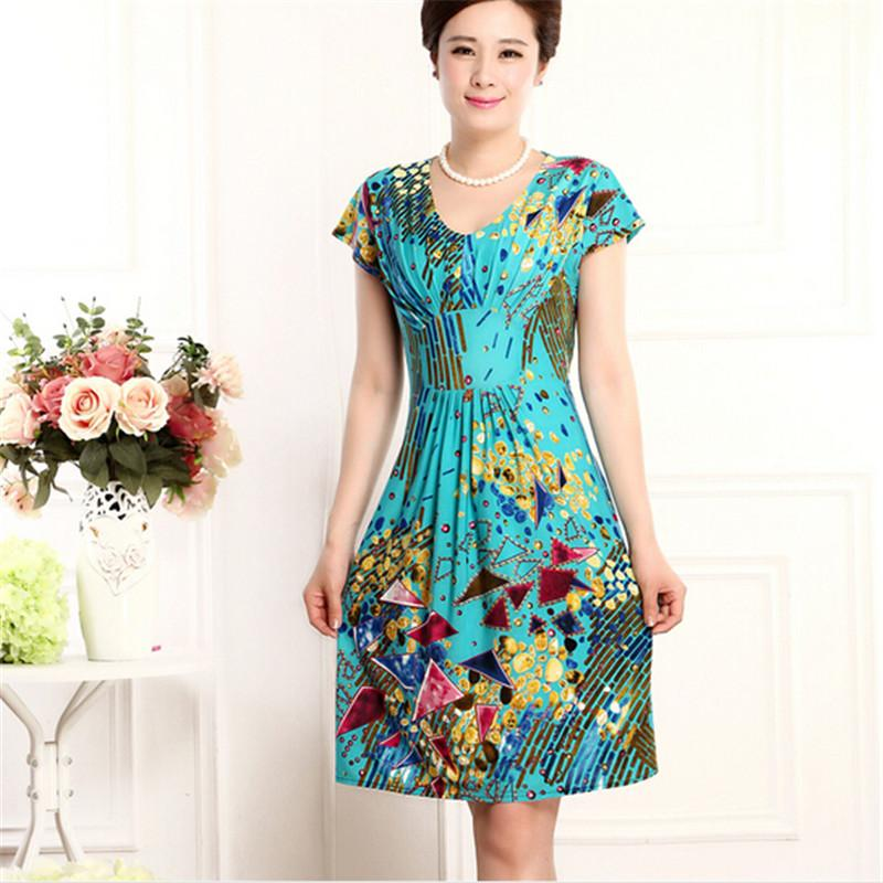 2019 Wholesale 2016 Latest Women Dresses Milk Silk Dress Summer Printing  Big Yards South Korean Style Slim Soft Stretch Lce Silk Dress BN361 From  Xiamen2013 ... 95965b69d