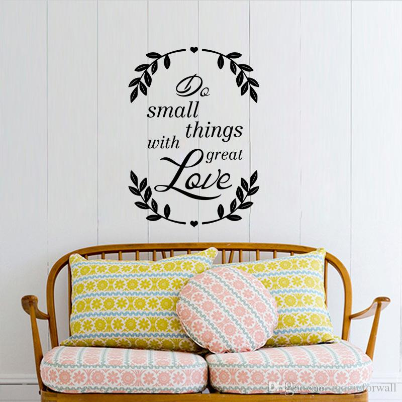 Do Small Things With Great Love Inspiration Quote Decal Wall Sticker Tree  Branches Wallpaper Poster Home Office Decor Saying Wall Graphic White Wall  ...