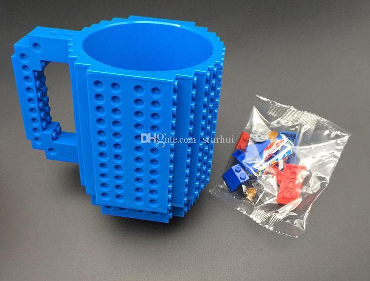 350ml Creative Milk Mug Coffee Cup Building Blocks Mugs Men Women Children Personalized Decompression Water Cup WX-C13
