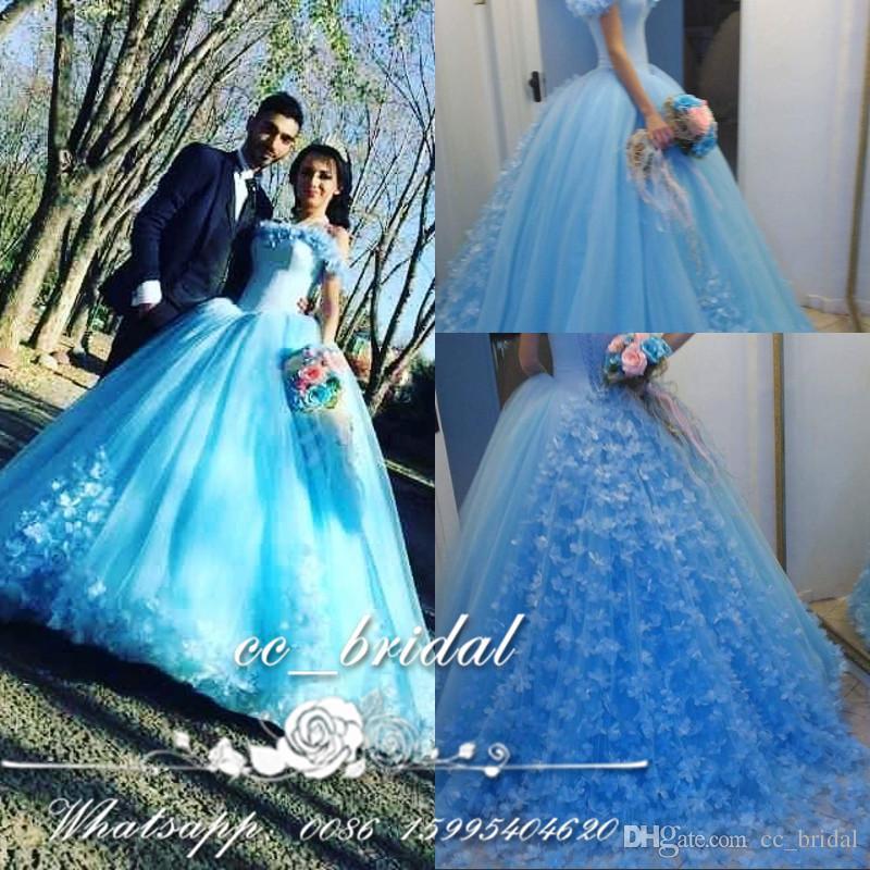 Light Blue Masquerade Dresses