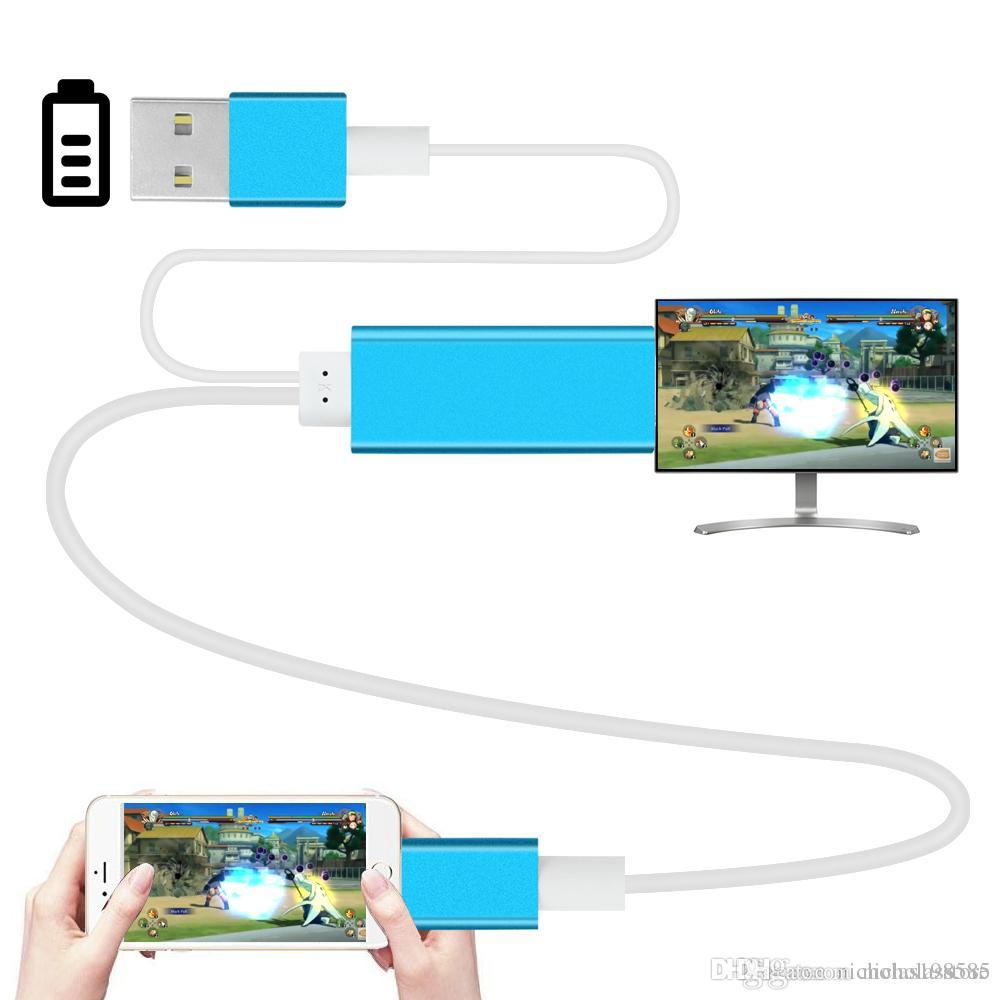 low priced ba023 6ad29 6FT 2M Phone Screen Video to HDMI For iPhone 5 6 6S 6/7Plus iPad Airplay  Screen to HDMI TV HDTV Adapter HDMI Cable AV Cable Audio Connectors