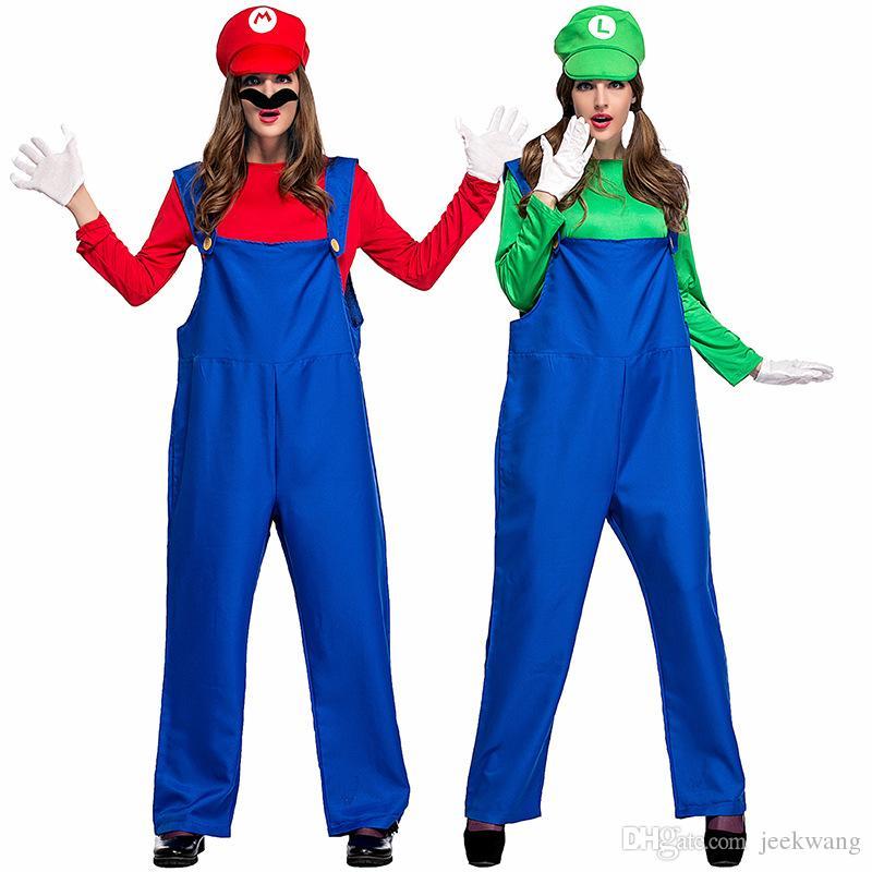 Compre Disfraces Unisex Para Adultos De Mario Y Luigi Súper ... 880e6c7b1443