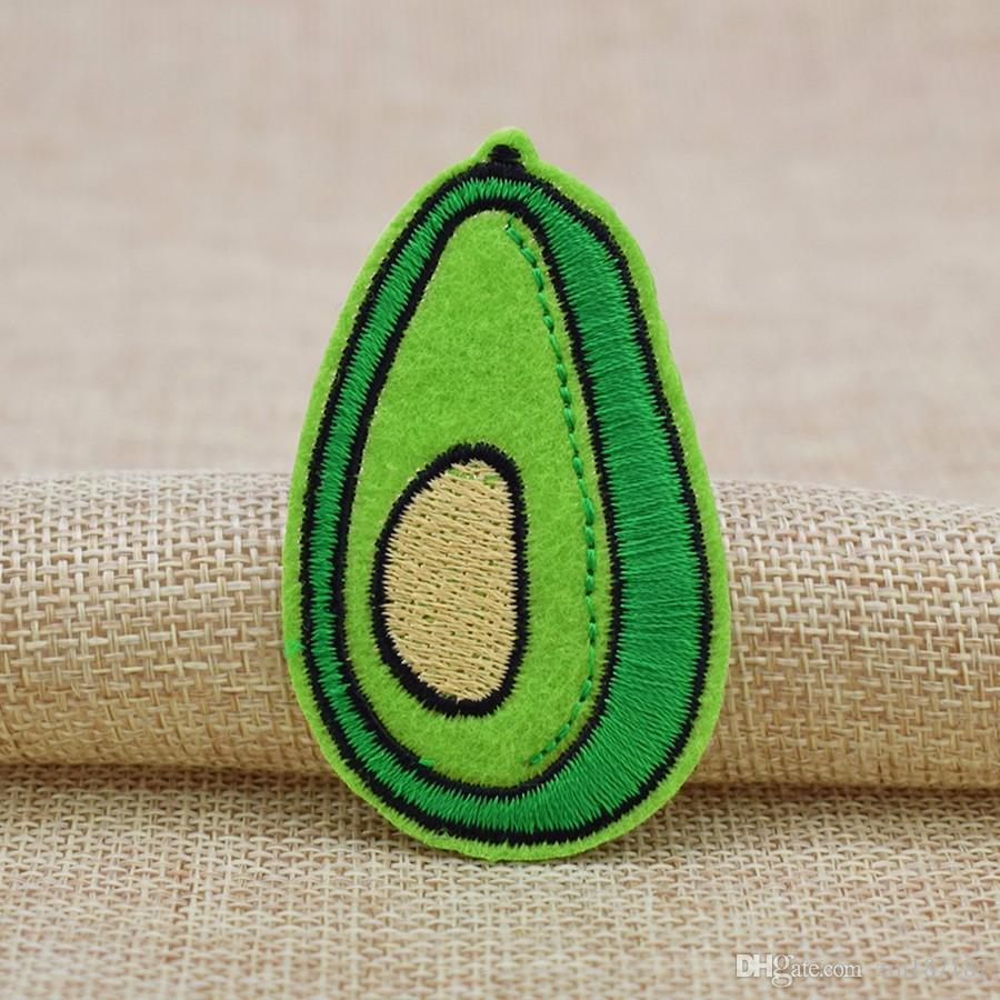 Brand New Green Avocado Patches Badge for Clothing Iron Embroidered Patch Applique Sew On Patches Sewing Accessories For DIY Clothes