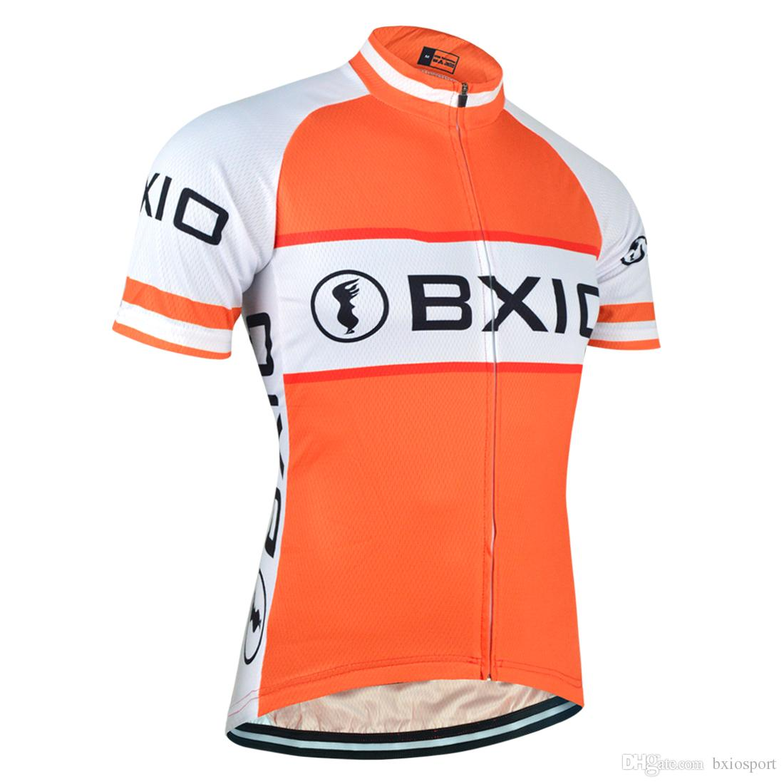 BXIO Brand Orange Cycling Shirt Summer Short Sleeve Jersey Men Bicycle  Clothing Breathable Cycling Tops Bikes Clothes Ropa Ciclismo BX 014 Vintage  Cycling ... 1d74de406