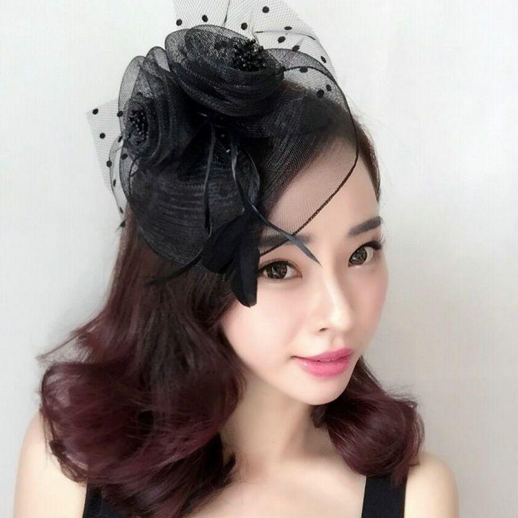 Großhandel Frauenkopfschmuckhaar Kurze Haare Brautschmuck Retro