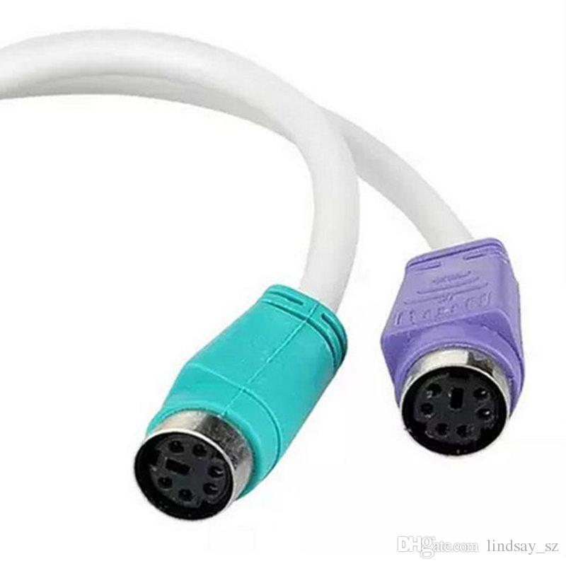 USB ذكر إلى 2 PS2 أنثى محول الفاصل موصل لبي USB إلى PS2 محول كابل محول لوحة المفاتيح الماوس لبان التوت