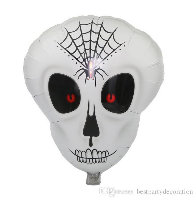 Kull Foil Ballons 50 * 55 CM enfants jouets gonflables squelette humain ballon d'hélium Halloween décorations de fête fournitures de fête