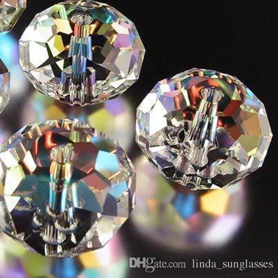 Оптовая 4x6mm белый AB Swarovski Кристалл драгоценный камень свободные белые бусины шарик N1