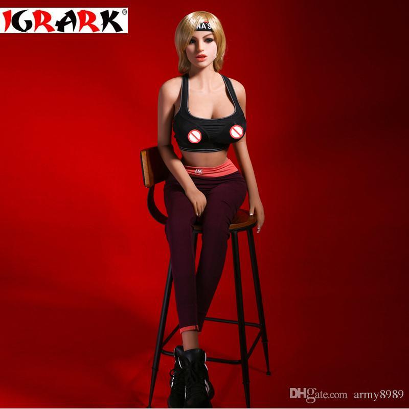 igrark Sexy Doll, realista Real TPE muñeca del sexo de silicona para hombres, ano vagina Big Breast muñecas, 165cm158cm140cm Male Sex Toy