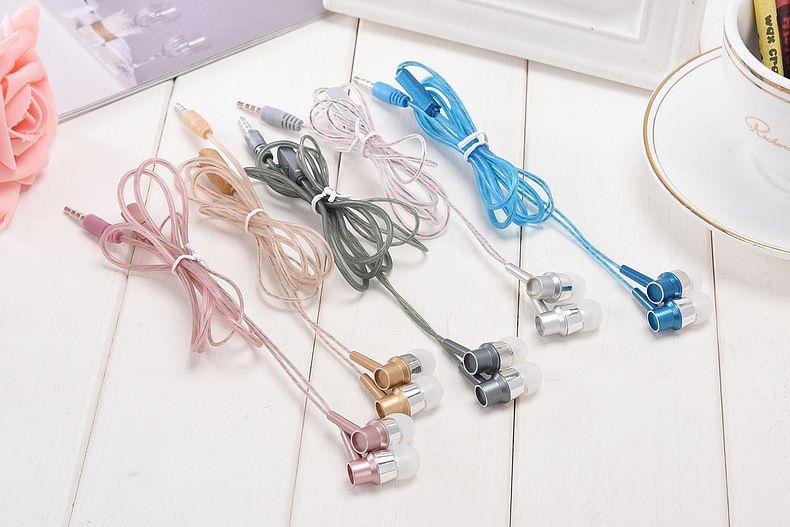 New fashion crystal high elastic color perfume headphones in ear headphone with microphone real bass headphone