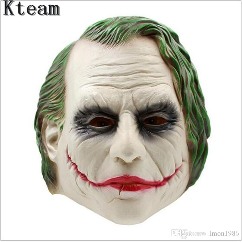 Top Grade Halloween Joker Mask Batman Clown Costume Cosplay Movie Adult Party Masquerade Rubber Latex Masks for Halloween Cosplay