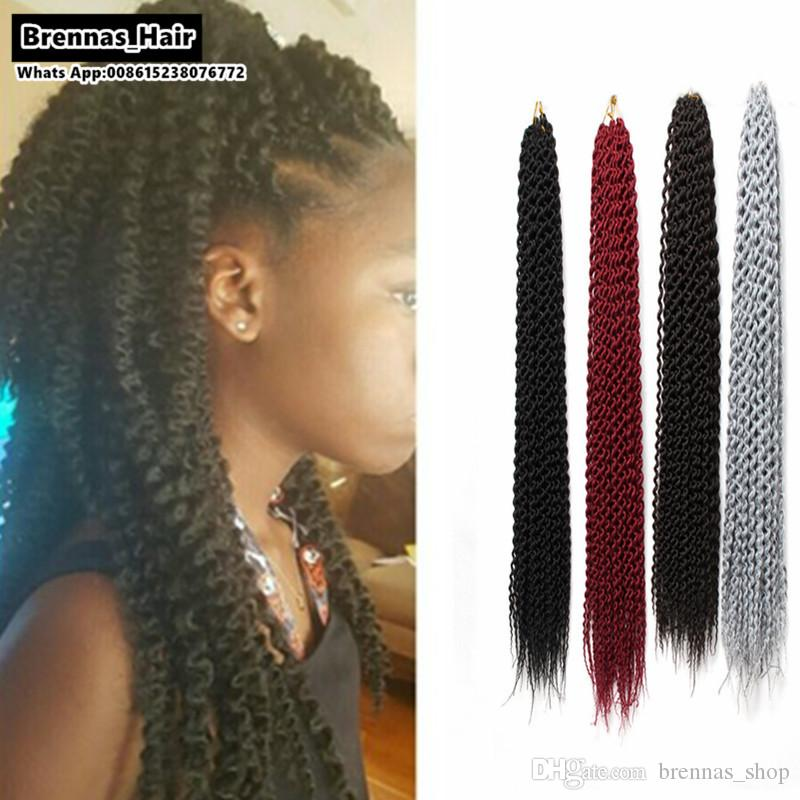 Online Cheap 24 Inch Curly Crochet Hair Extensions 2x Pre Loop